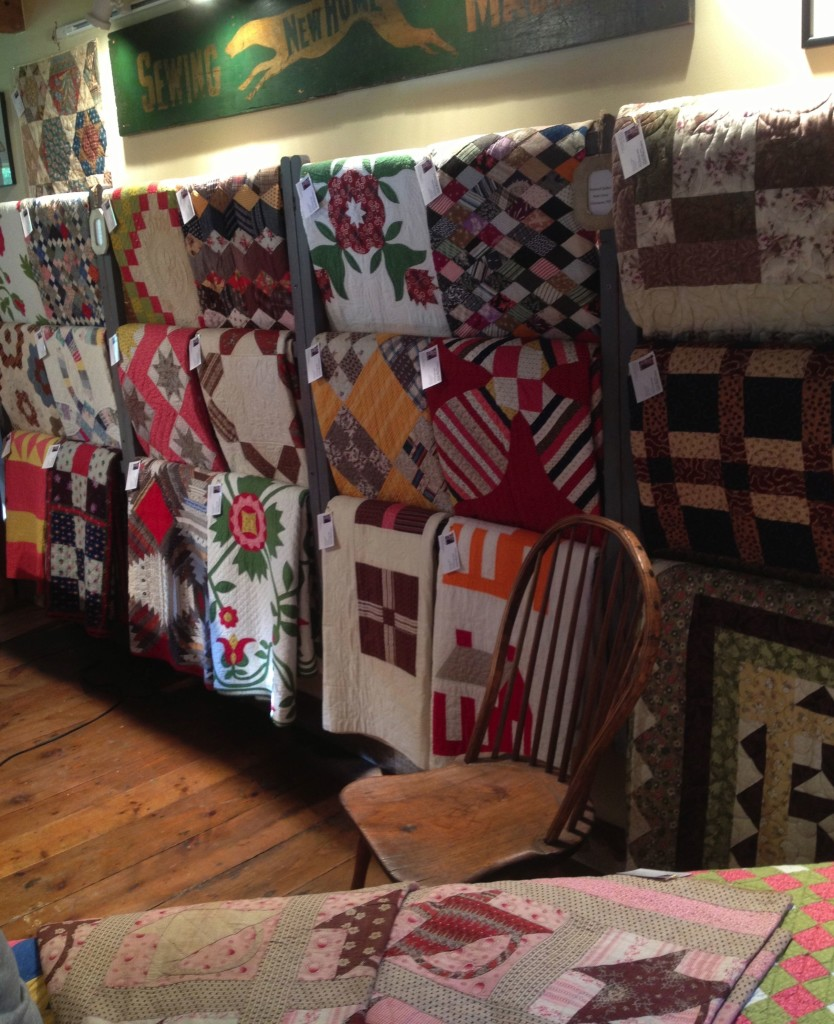 Grafton Village Quilts - Quilts on racks